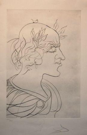 Engraving Dali - Emperador Trajano