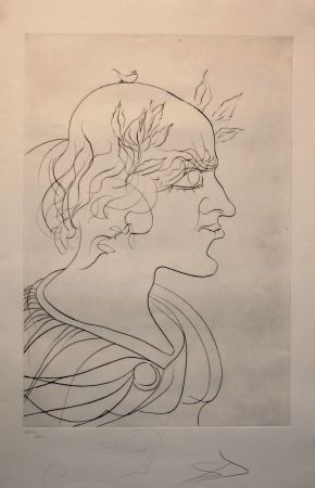 Etching Dali - Emperador Trajano