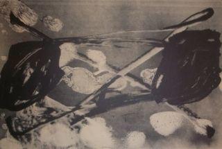 Lithograph Tàpies - Empreinte barrrée