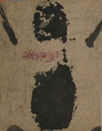 Etching Tàpies - Empreinte de pied