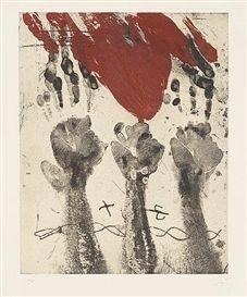 Etching Tàpies - Empreintes de mains