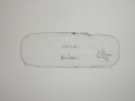 Engraving Favier - En attendant les huns