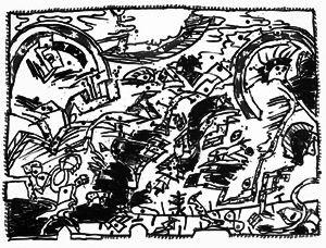 Lithograph Alechinsky - En fait (Etat en noir)