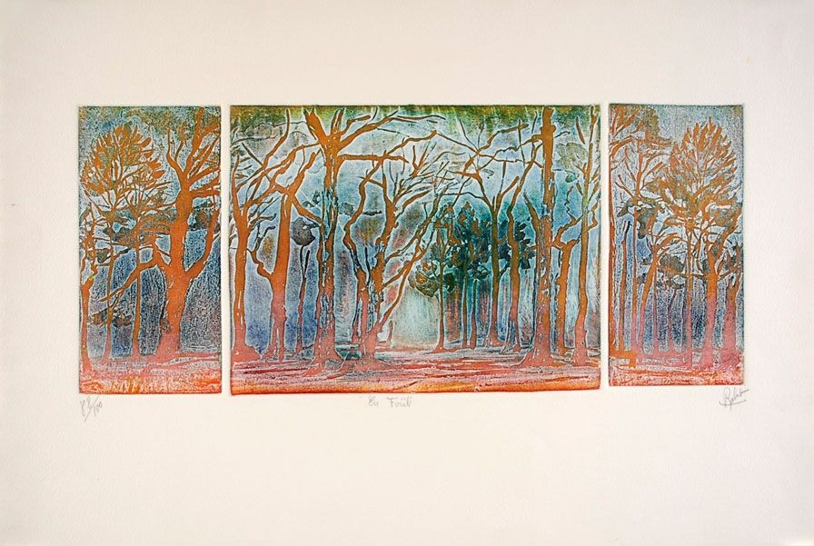 Etching And Aquatint Robert - En forêt