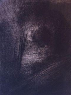 Etching Leroy  - En Hauteur sur un lit sombre en diagonale
