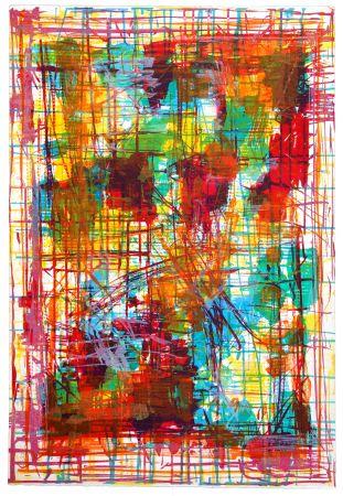 Lithograph Huftier - En pastel