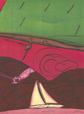 Lithograph Adami - En solitaire