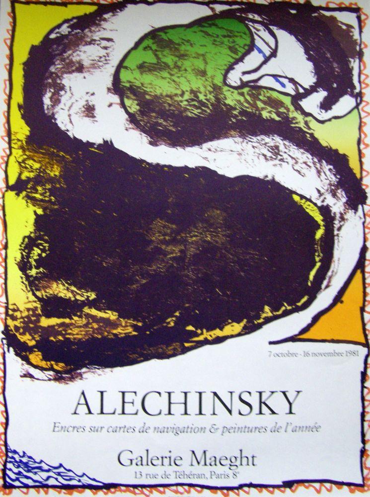 Poster Alechinsky - Encres sur carte