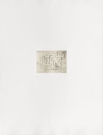 Etching Chillida - Enda I