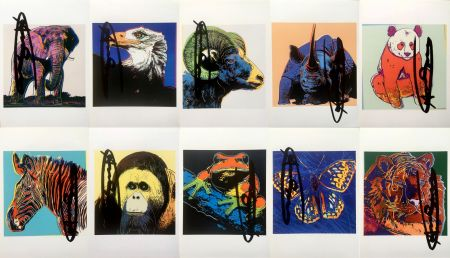 Lithograph Warhol - Endangered Species Announcement Cards (Set of 10) (Signed)