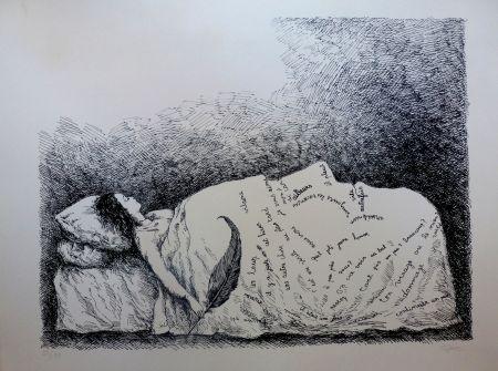 Lithograph Topor - Endormie