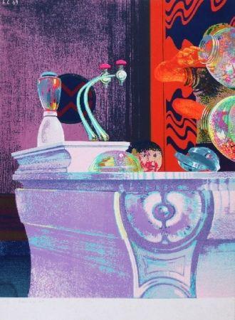 Screenprint Cremonini - Enfant au bar