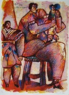 Lithograph Tobiasse - Enfants venus du palais de la mémoire