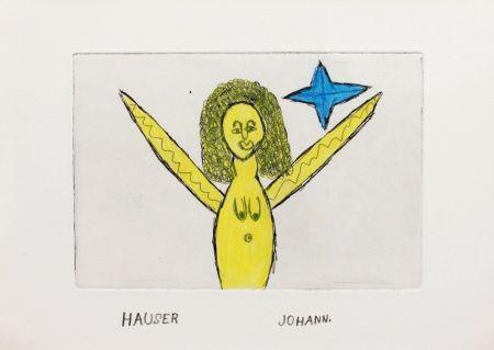 Etching Hauser - Engel (Angel)