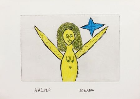 Etching Hauser - Engel (Angel)