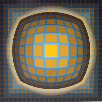 Screenprint Vasarely - Enigma 3