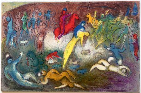 Lithograph Chagall - ENLÈVEMENT DE CHLOÉ (Daphnis et Chloé - 1961)
