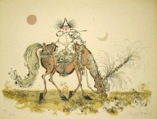 Lithograph Searle - Entracte