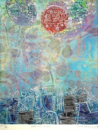 Etching And Aquatint Hasegawa - Entre ciel et mer