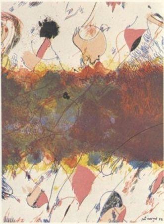 Lithograph Guinovart - Entre dues roses