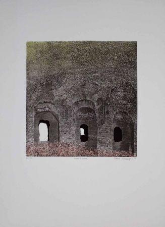Etching And Aquatint Vernunft - Entro le mura