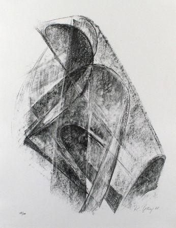 Lithograph Belling - Entwurf für eine Plastik