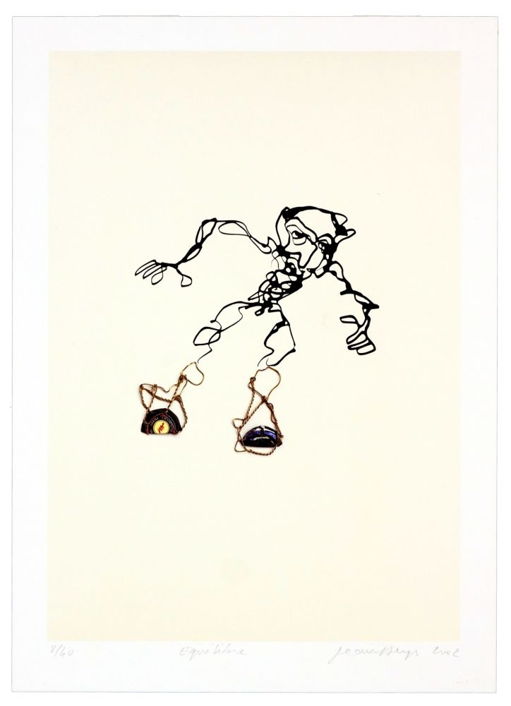 Lithograph Phillipe - Equilibre