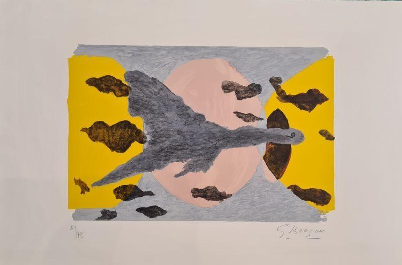 Lithograph Braque - Equinoxe