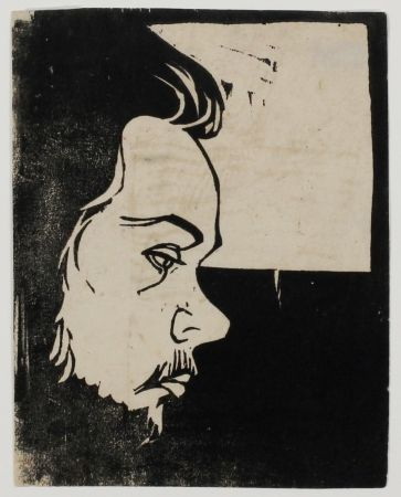 Woodcut Kirchner - Erich Heckel