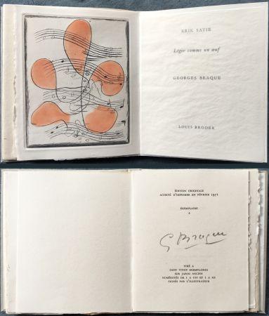 Illustrated Book Braque - Erik satie : LÉGER COMME UN ŒUF. Une gravure originale en couleurs (1957)