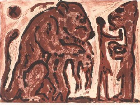 Lithograph Penck - Erinnerung unbekannt