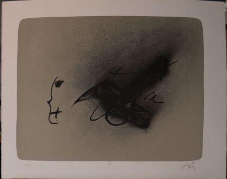 Lithograph Tàpies - Erinnerungen, Plate I