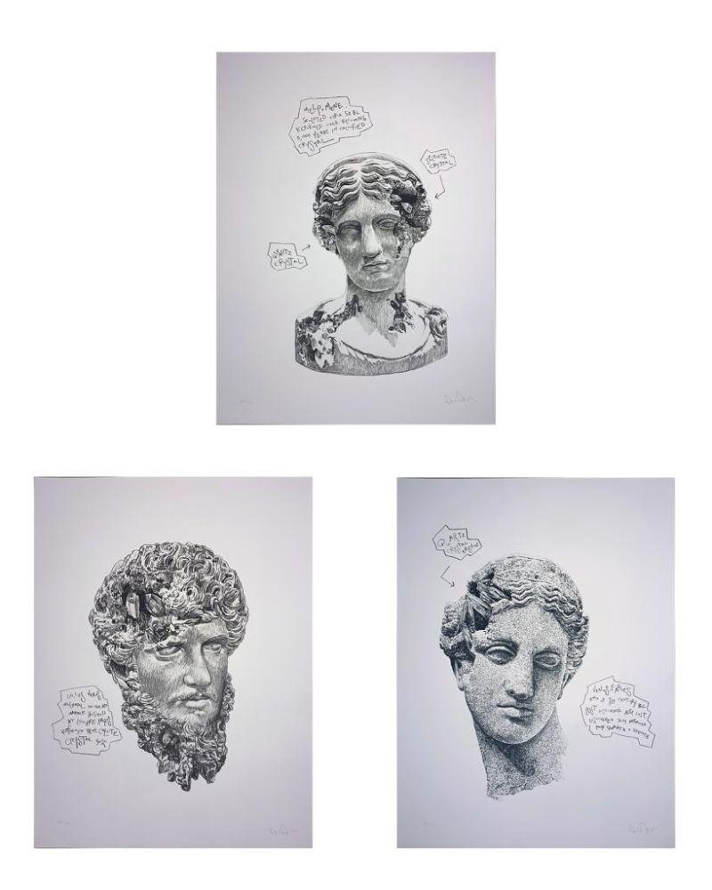 Screenprint Arsham - Eroded Classical Prints (Portfolio of 3)
