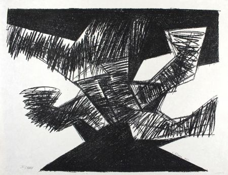Lithograph Uhlmann - Erregt