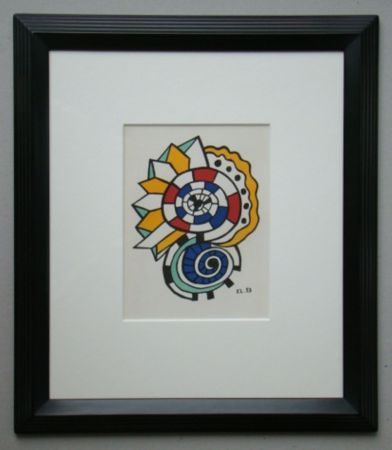 Lithograph Leger - Escargot, 1953