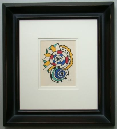 Lithograph Leger - Escargots