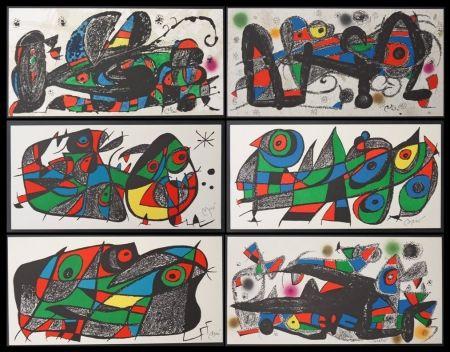 Lithograph Miró - Escultor - 7 lithos