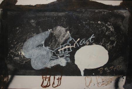 Engraving Tàpies - Esgrafiat