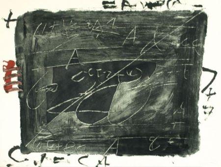Engraving Tàpies - ESGRAFIATS DAMUNT NEGRE