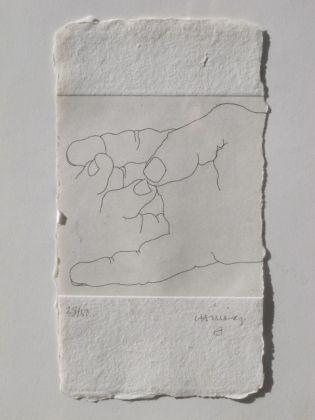 Engraving Chillida - ESKU XXVII