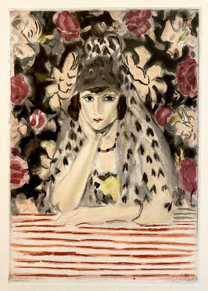 Aquatint Matisse - Espagnole a la Mantille