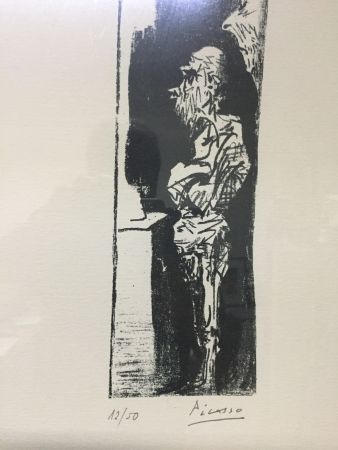 Lithograph Picasso - Espectadores