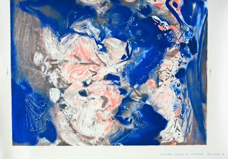 Lithograph Chu Teh Chun  - Essai couleur