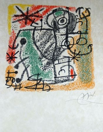 Lithograph Miró - Essences de la terra complete set of 9 lithographs