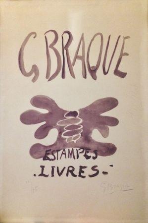 Lithograph Braque - Estampes et livres. 1958.