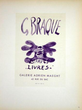 Lithograph Braque - Estampes  Livres