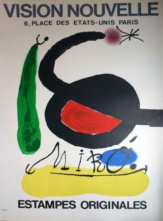 Lithograph Miró - '' Estampes Originales '' Vision Nouvelle