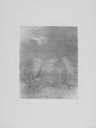 Lithograph Redon - Et il distingue....