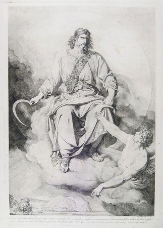 Etching Sabatelli - 'ET VIDI, ET ECCE NUBEM CANDIDAM....' (St. John's Apocalypse, Chapter XIV)