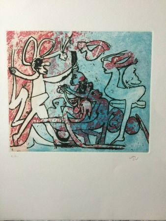 Etching Matta - Etching in colors from the portfolio